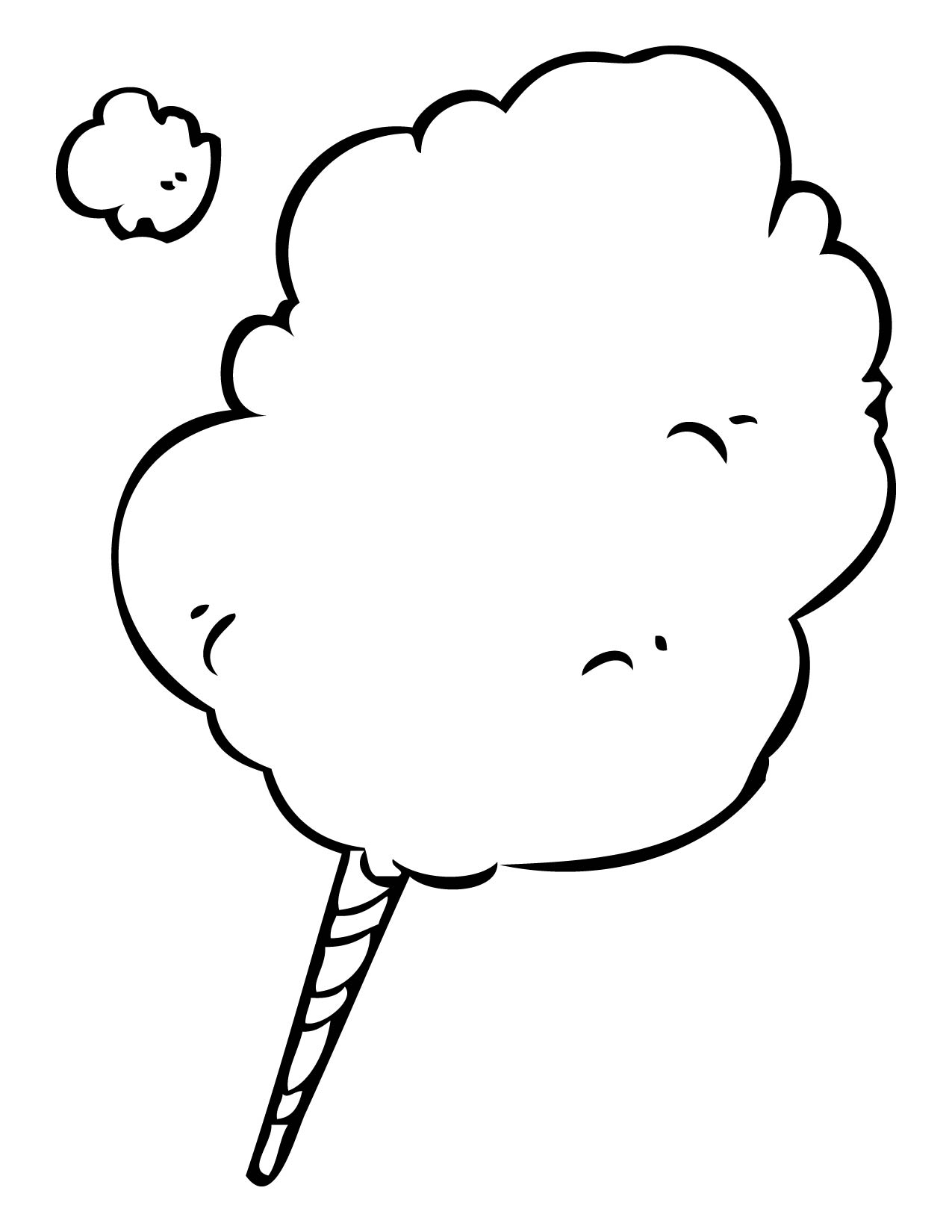 cotton candy coloring page cotton candy pictures clipart best