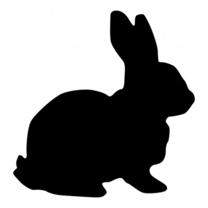Rabbit Silhouette Vector clip art - Free vector for free dow ...