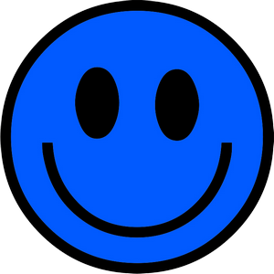 Blue Happy Face Png - ClipArt Best