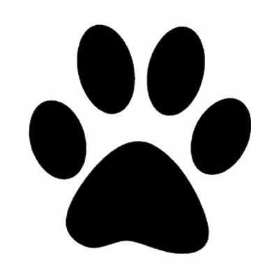 6 Best Images of Dog Paw Print Template Printable - Large Dog Paw ...