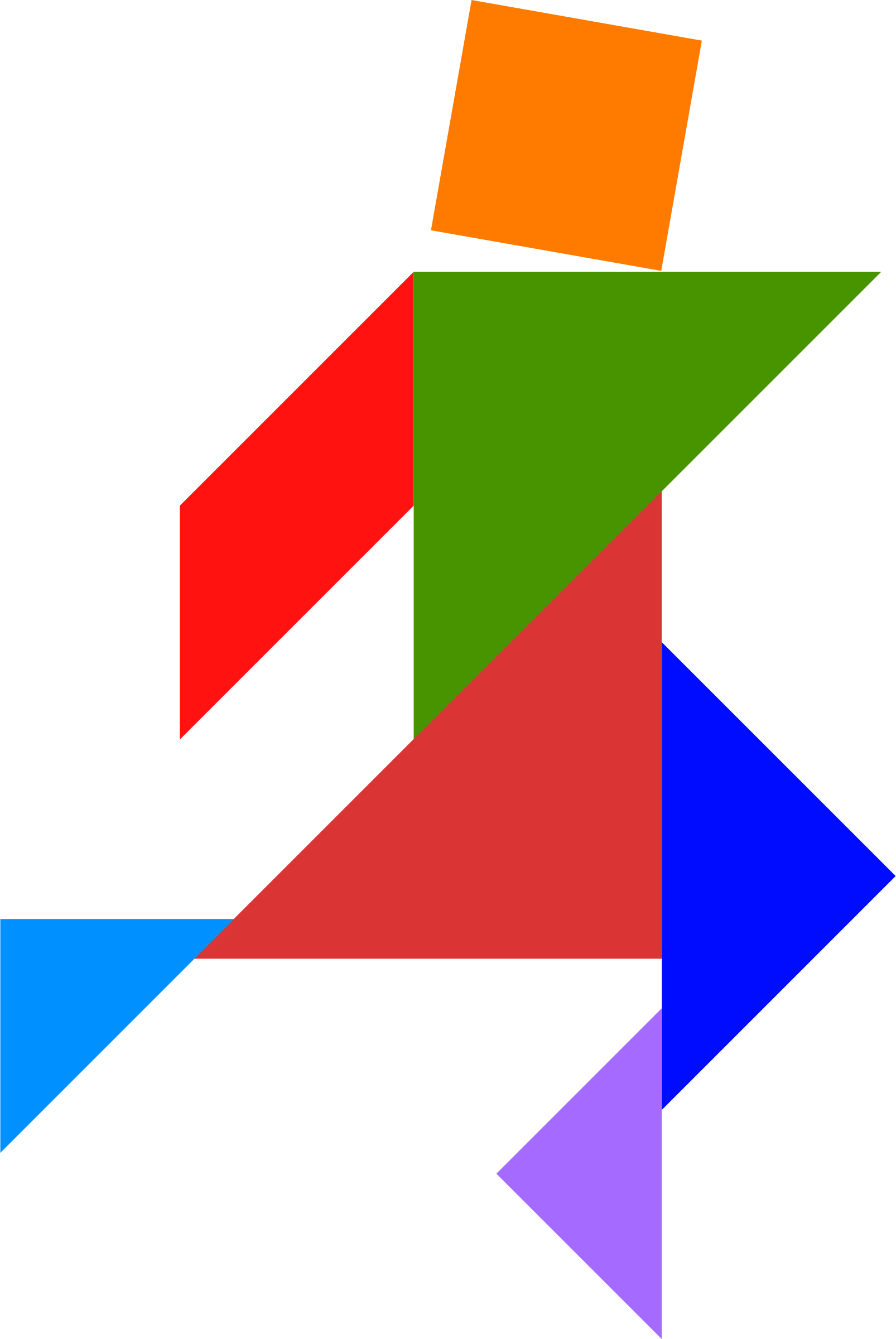 Tangram SVG Vector, Tangram Clip art - SVG Clipart