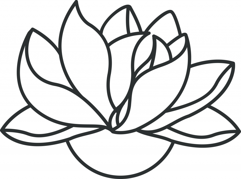 Simple Clip Art Line : Lotus drawing images clipart best