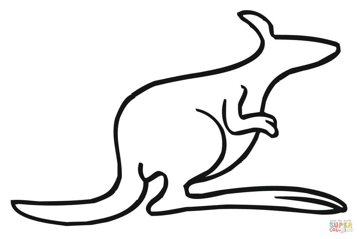 Line Drawing Kangaroo : Kangaroo outline clipart best