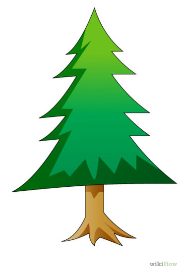 Pine Tree Drawing on Clip Art Christmas Tree Outline
