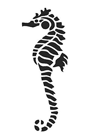 Seahorse Stencil - ClipArt Best
