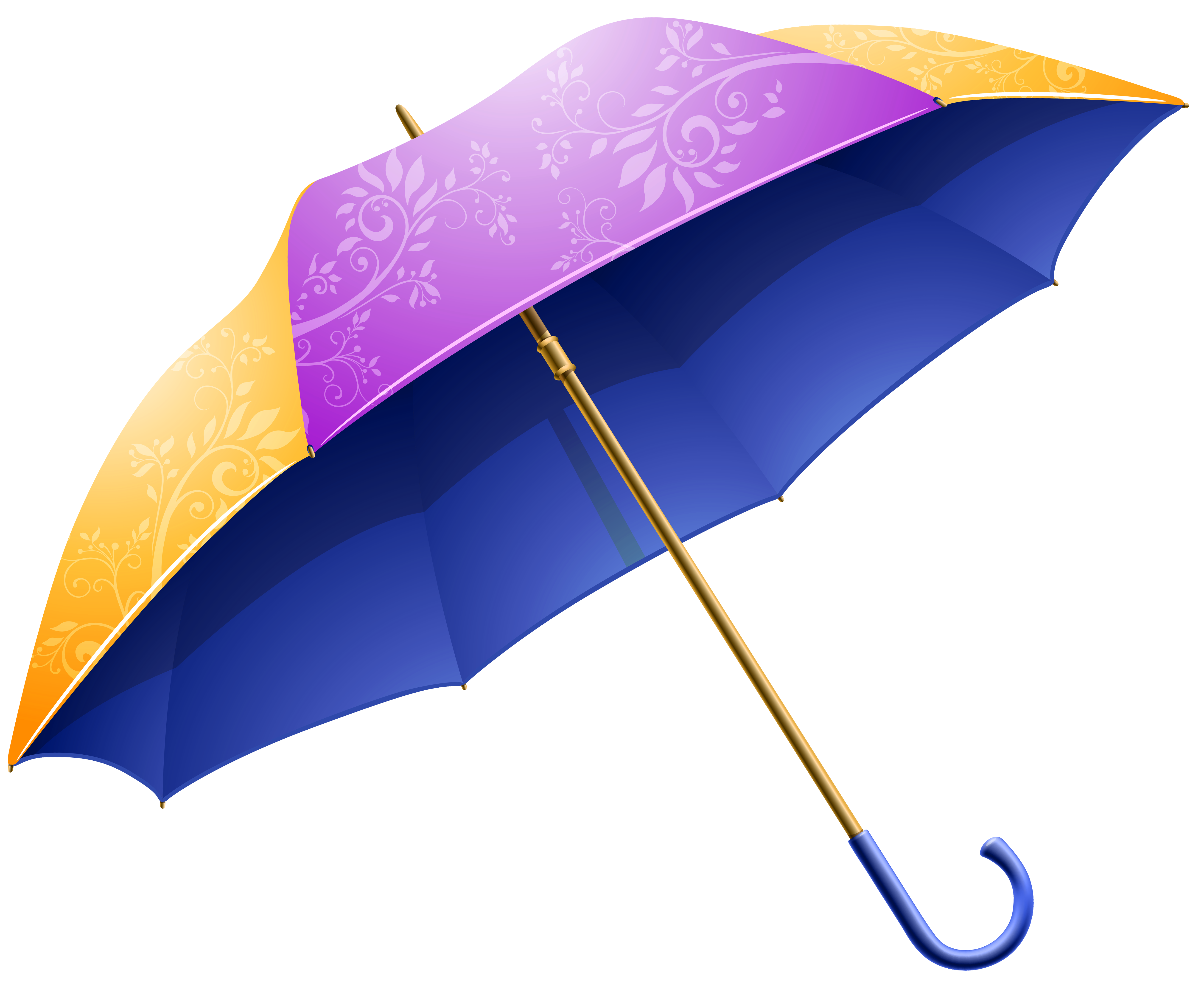 Purple Yellow Umbrella PNG Clipart Image