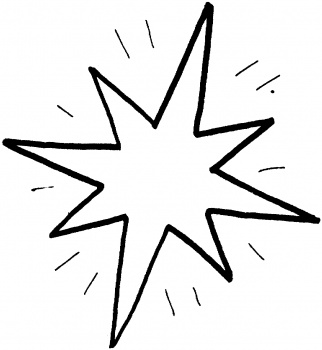 Shooting Star Coloring Pages Clipart Best