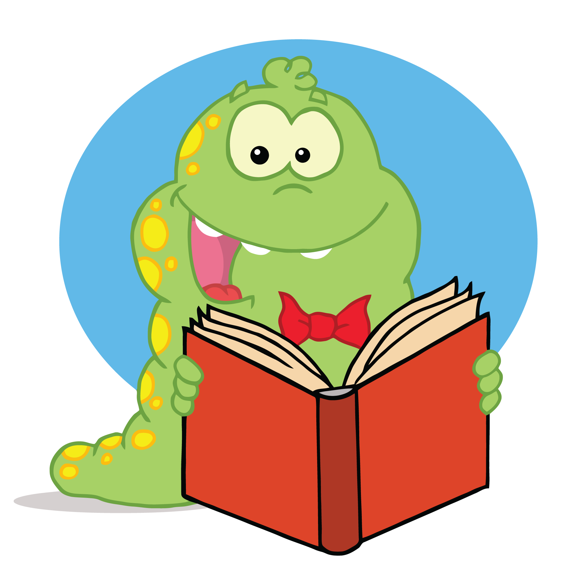 free clip art animals reading books - photo #3