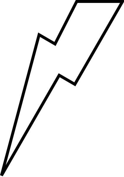 Lightening Bolt clip art - vector clip art online, royalty free ...
