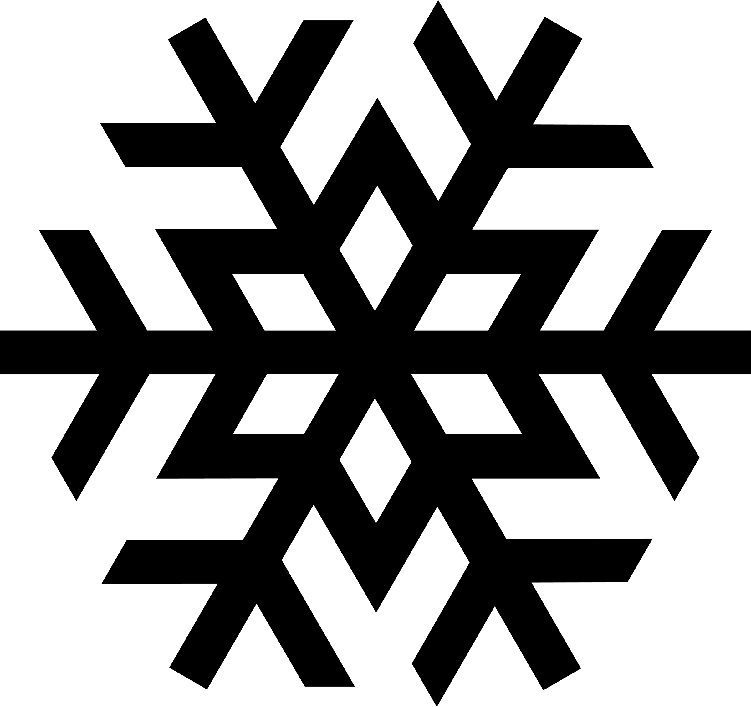 Simple Snowflake Line Art : Simple snowflakes clipart best
