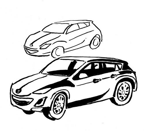 Line Art Car : Car line drawings clipart best