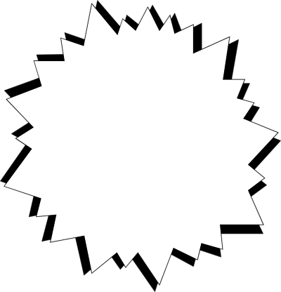 Free Stock Photos | Illustration Of A Blank White Star Burst ...