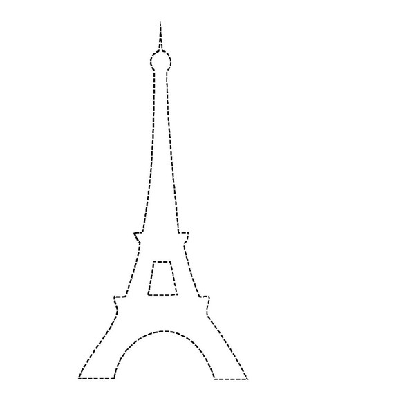 Eiffel tower outline clipart best for Eiffel tower model template