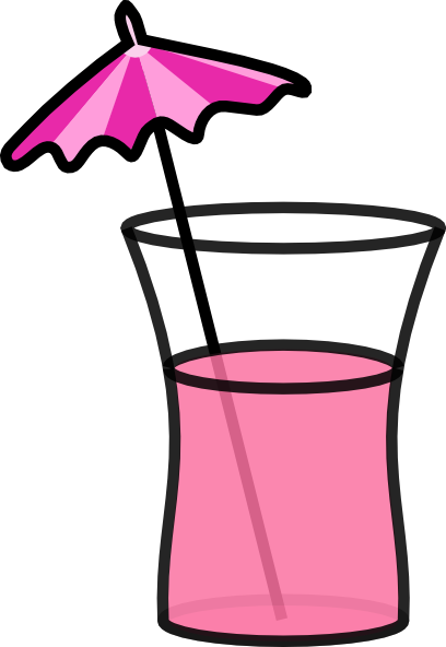 Pink Cocktail clip art - vector clip art online, royalty free ...