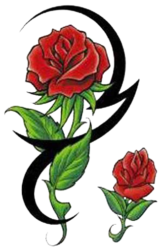 Tribal rose tattoos clipart best for Tribal rose tattoo designs