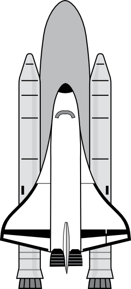 Nasa Space Shuttle clip art - vector clip art online, royalty free ...