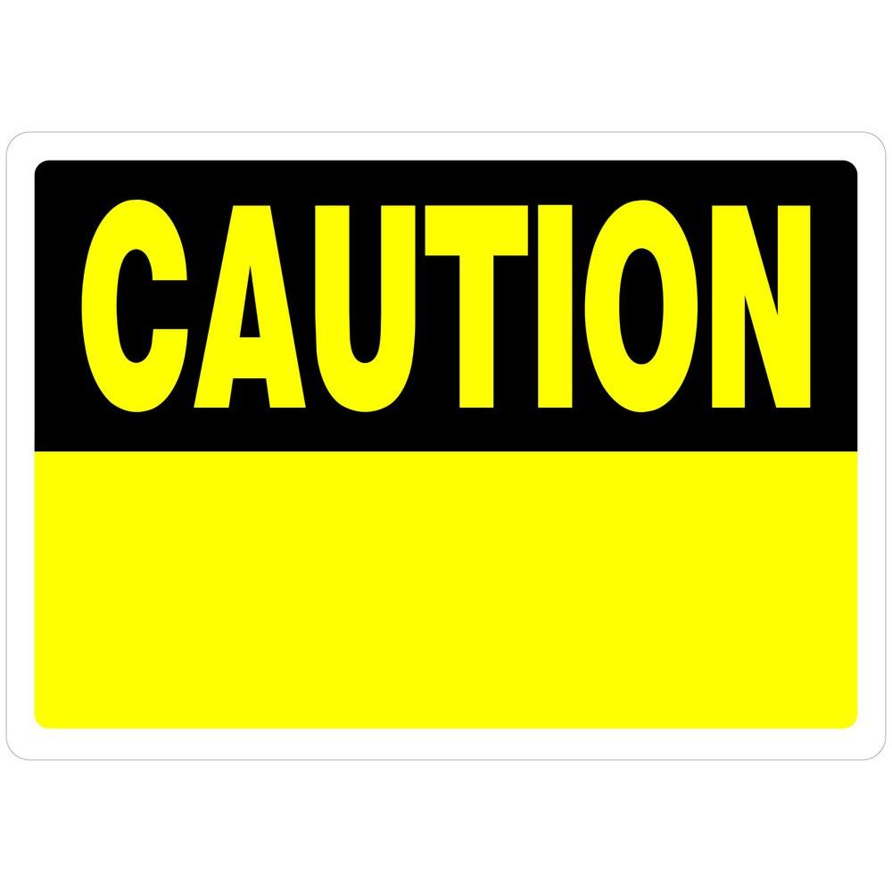 blank caution sign-#11