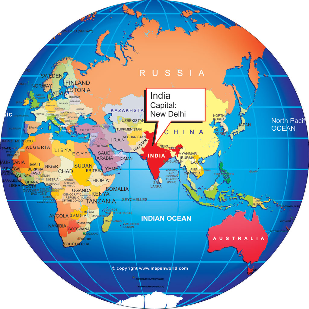 Where is India world globe ClipArt Best ClipArt Best