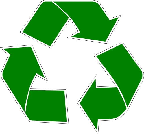 green recycling symbol clipart best