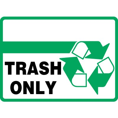Trash Sign - ClipArt Best