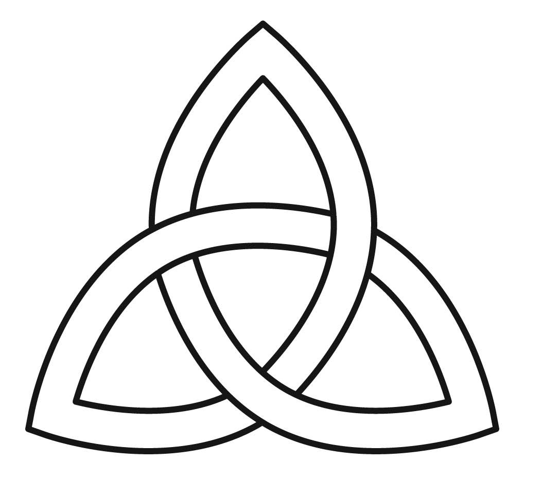 how to draw a simple celtic knot