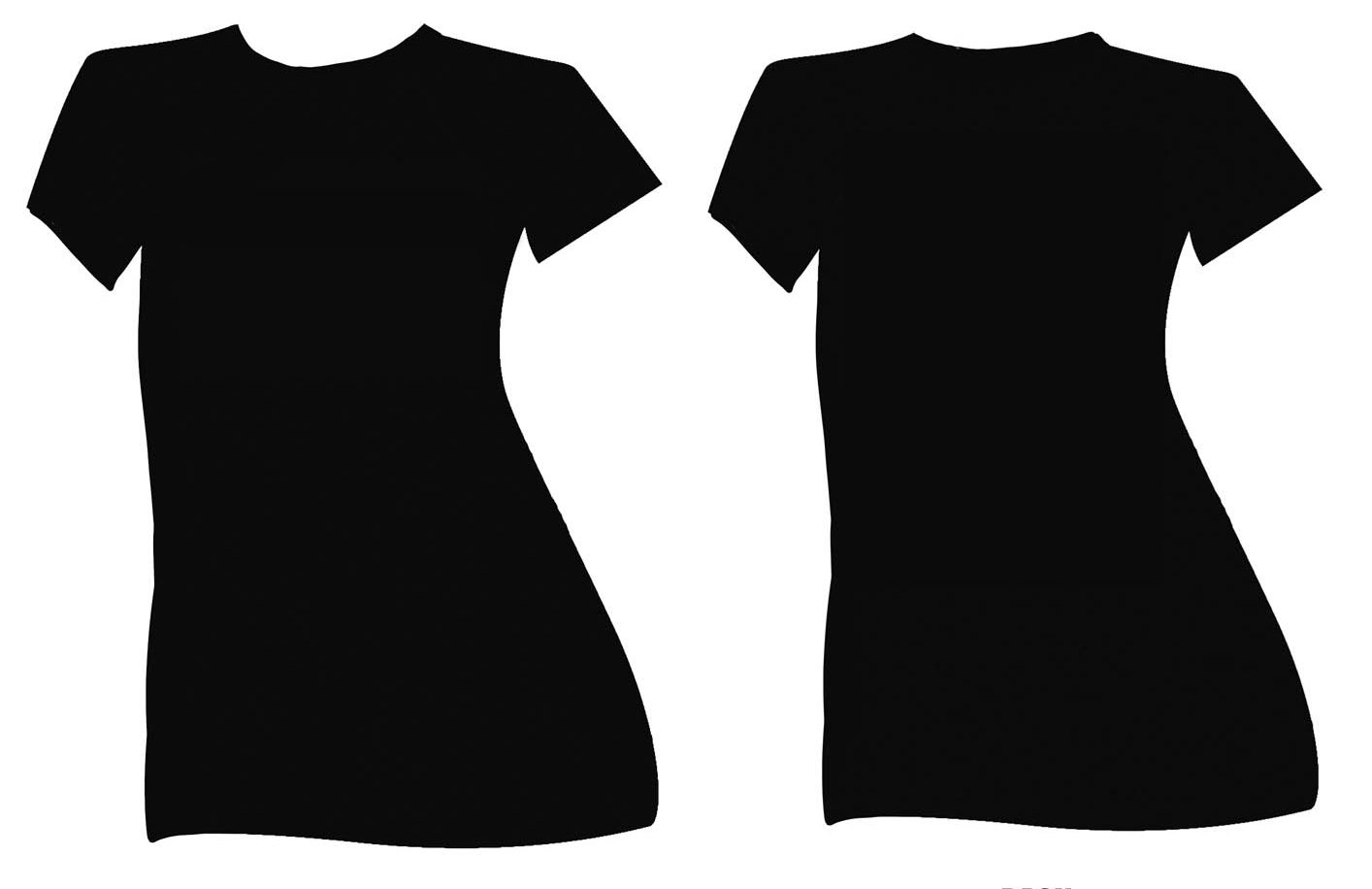 front and back t shirt outline clipart best