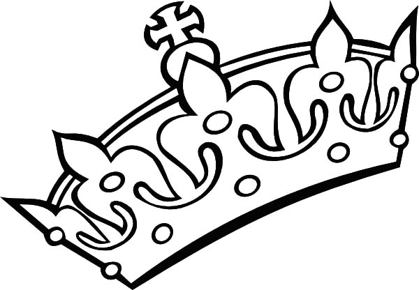 Queen Crown Coloring Page Free