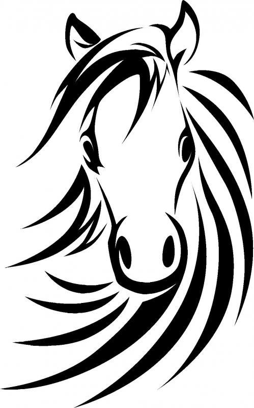 Horse Head Stencil ClipArt Best