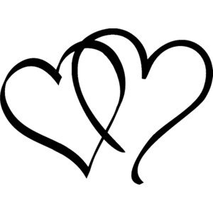 Free black and white heart clipart
