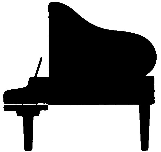 Silhouette Of A Piano Clipart Best