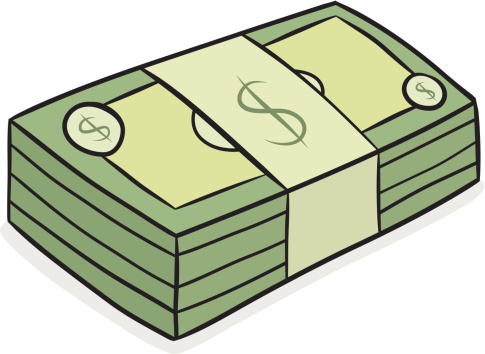 Money Stack Clip Art Cartoon Money Stacks -...