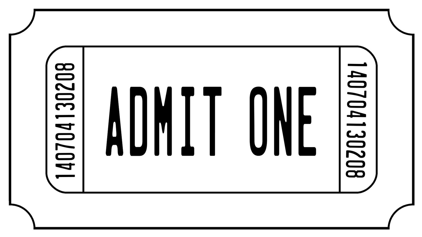 template for tickets with stubs - printable movie ticket template clipart best