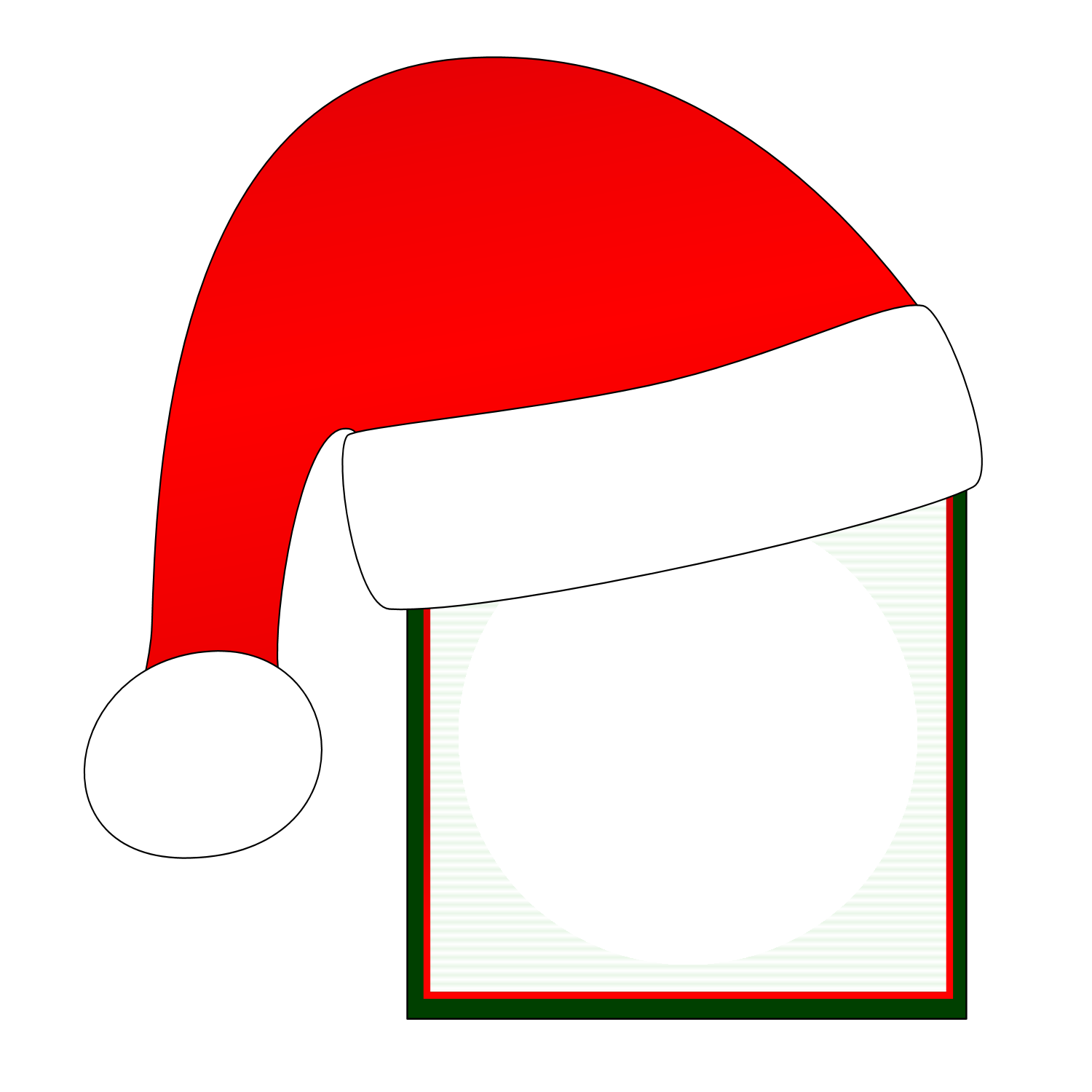 Santa hat pictures clip art Clipart of a Black and White Reindeer Flying Santa in a