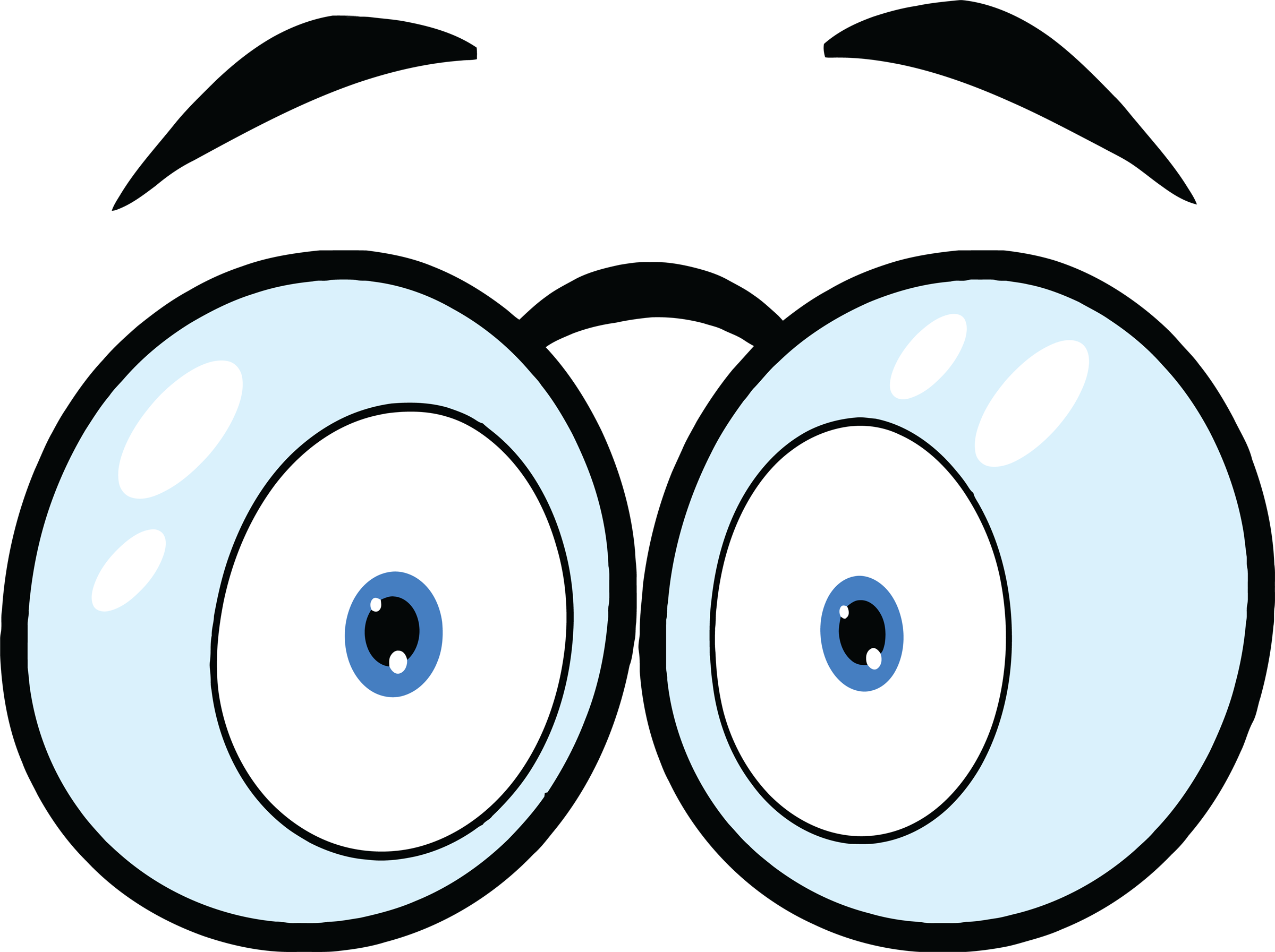 Comic Book Cartoon Eyes Clip