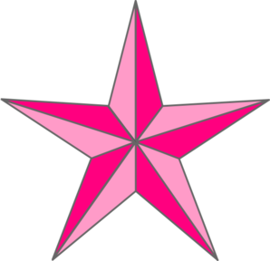 Pink Nautical Star clip art - vector clip art online, royalty free ...