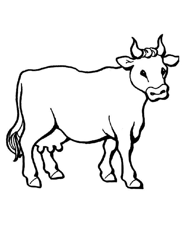 free cute cow coloring pages - photo#23