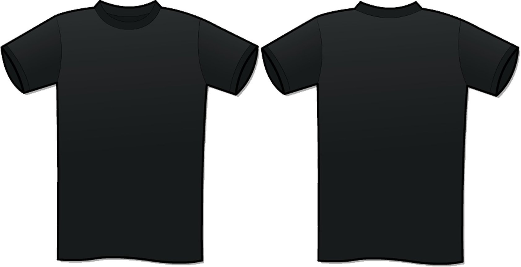 3 4 T Shirt Drawing Template Clipart Best