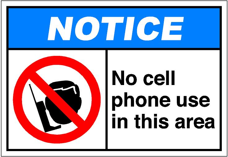Clipart no cell phones sign