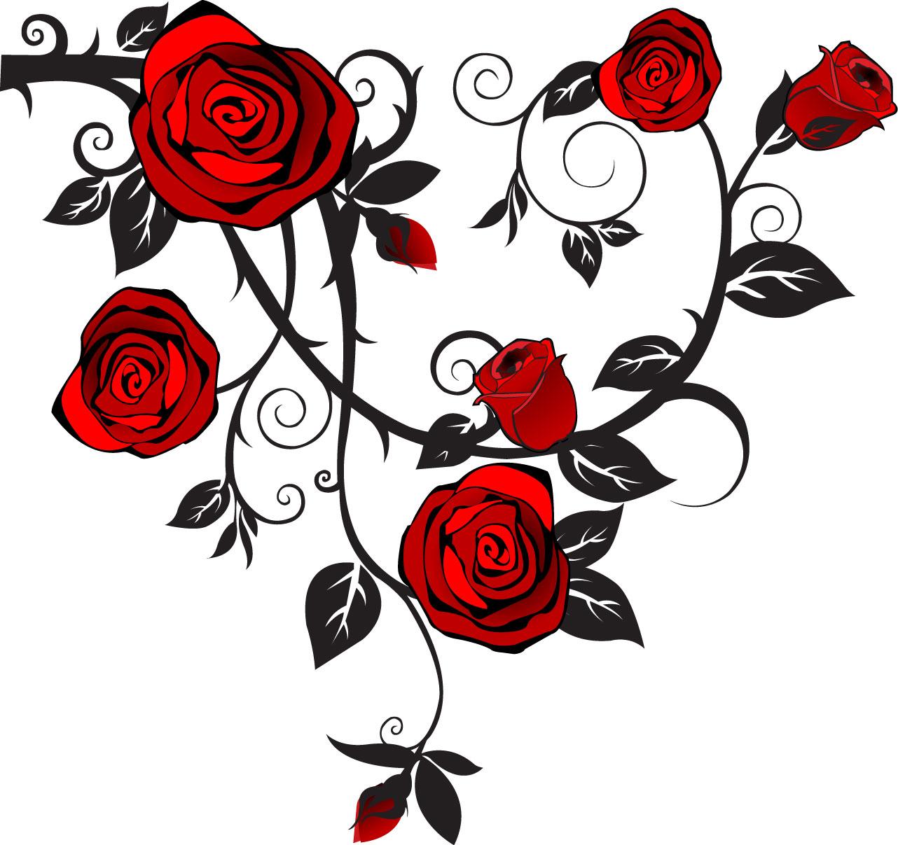 Tattoo Designs Clipart: Free Rose Tattoo Designs