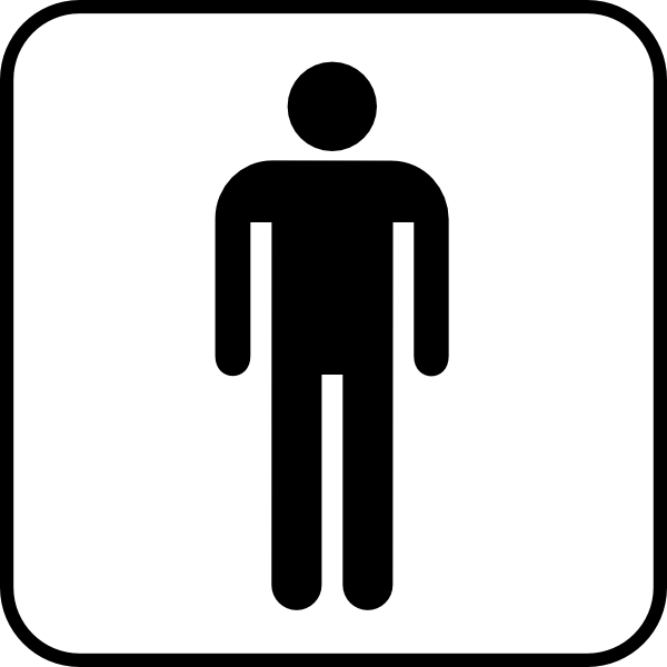 Mens Bathroom Sign