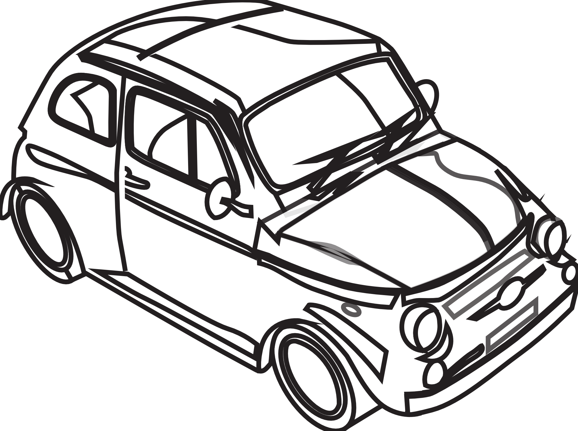 Car Clip Art Black And White - Free Clipart Images
