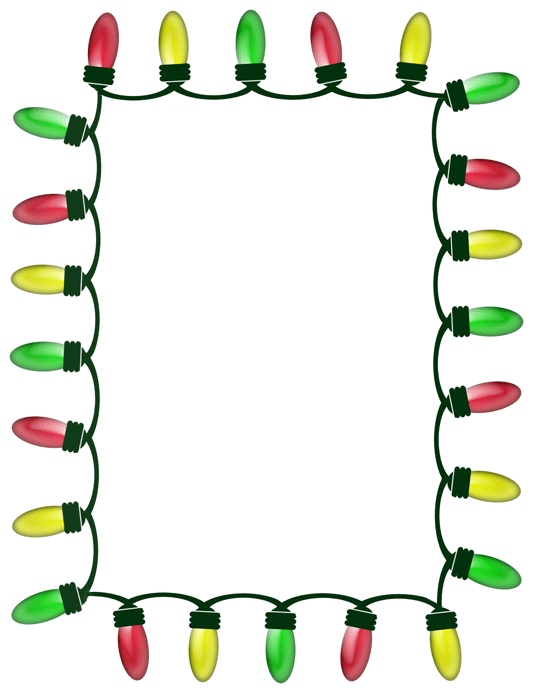 Christmas Lights Border Clipart - Free Clipart Images