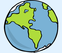 Globe drawing clipart best for Easy to draw earth