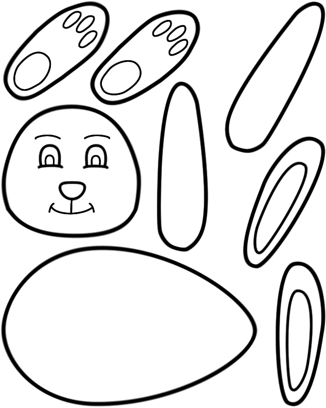 printable easter bunny free printable easter bunny coloring pages ...