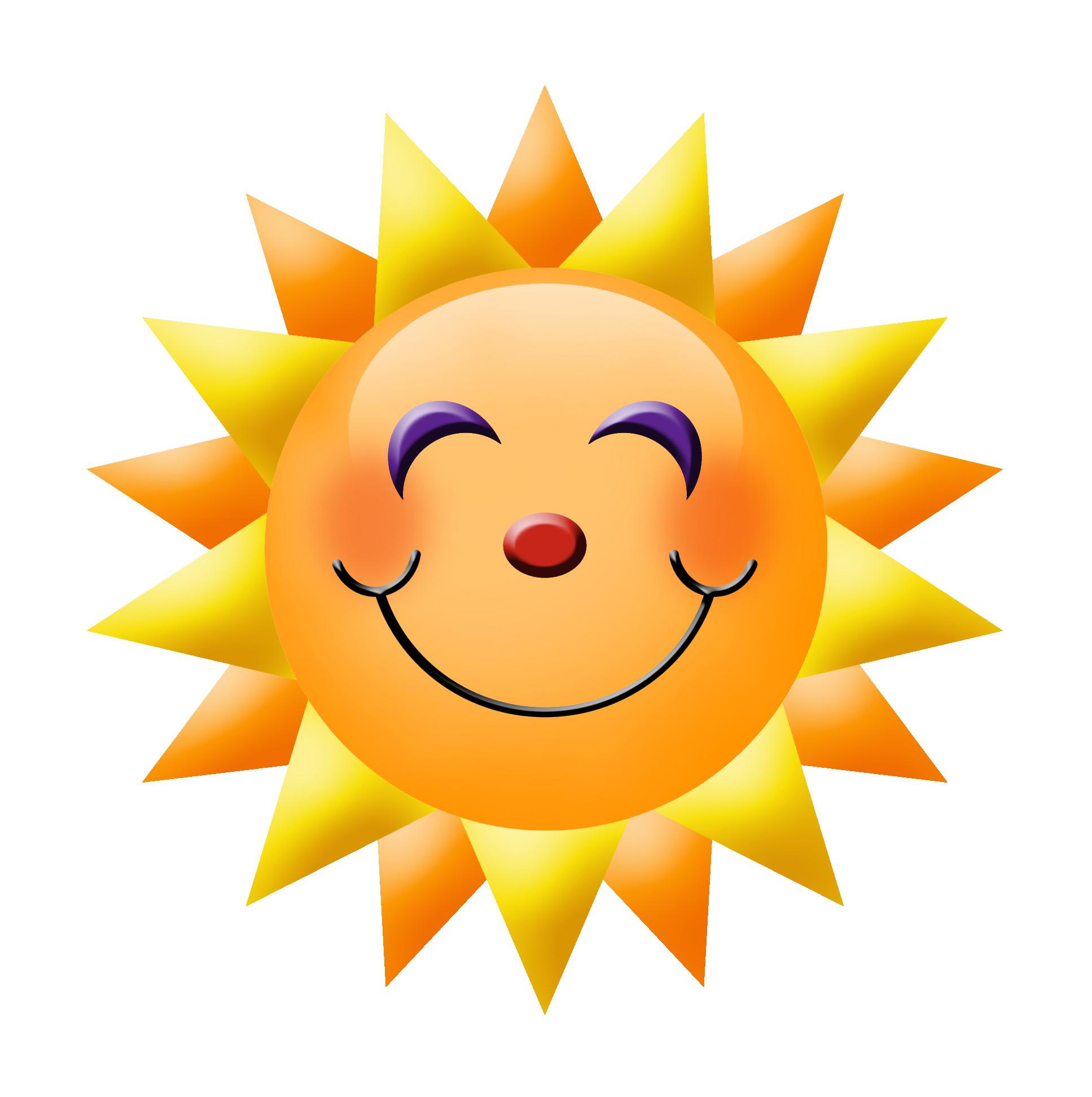 Happy Face Sun - ClipArt Best
