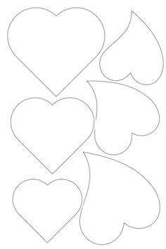 Small heart shape template clipart best for Small heart template to print