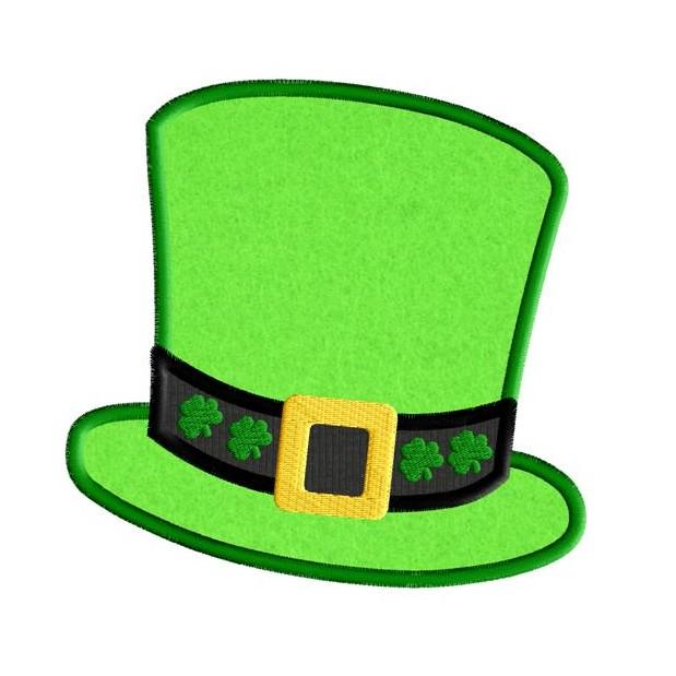Leprechaun Hat St Patricks Day Applique Design