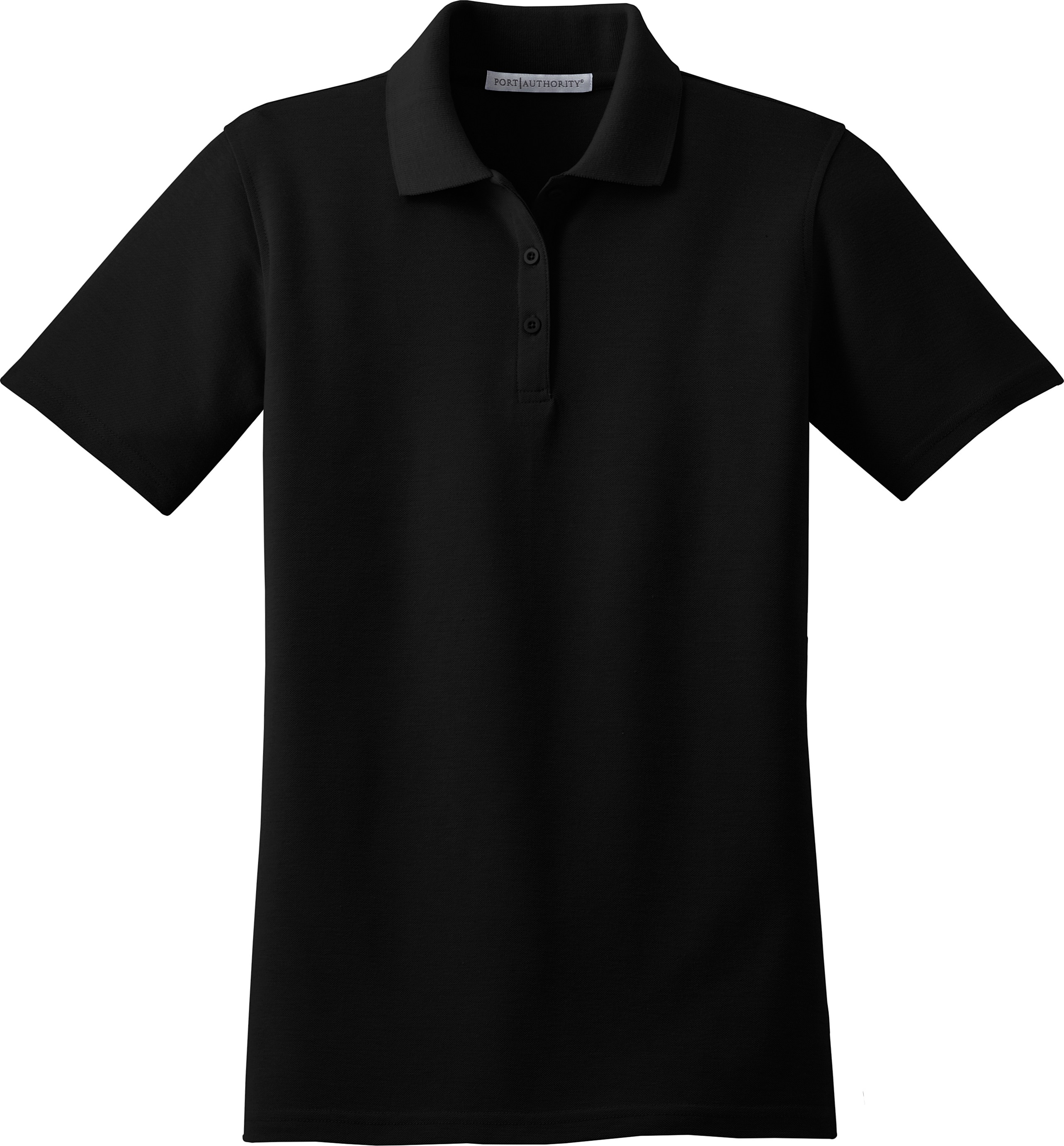 Black t shirt with collar front and back