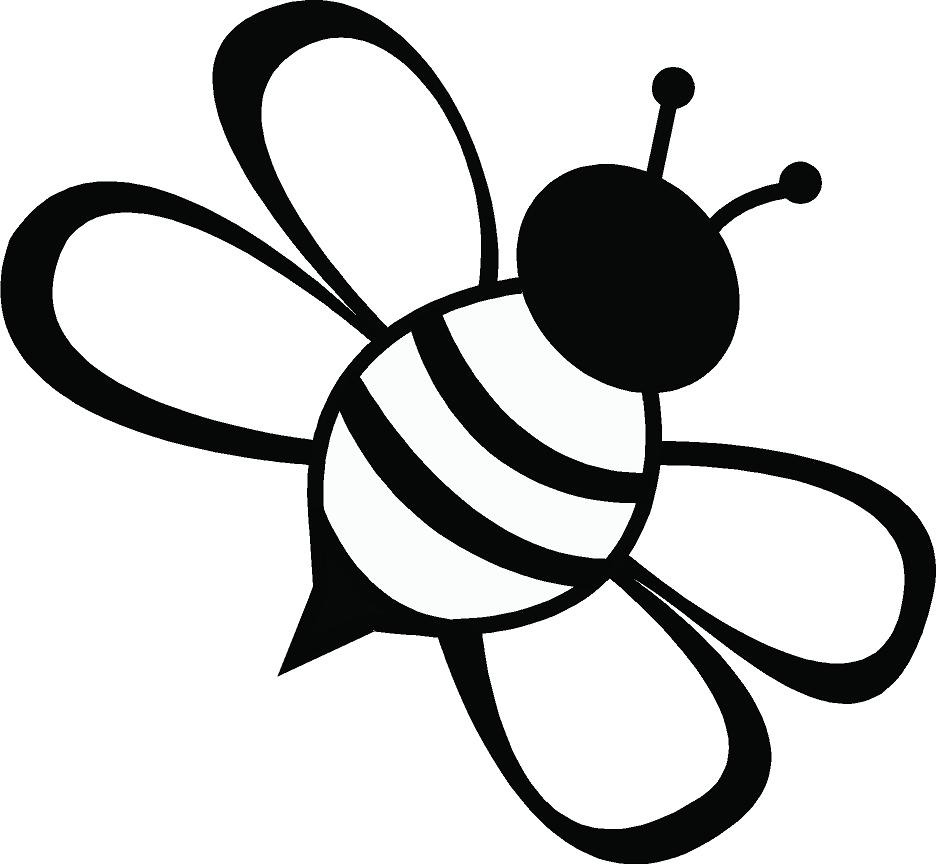 Simple bee drawing - photo#1
