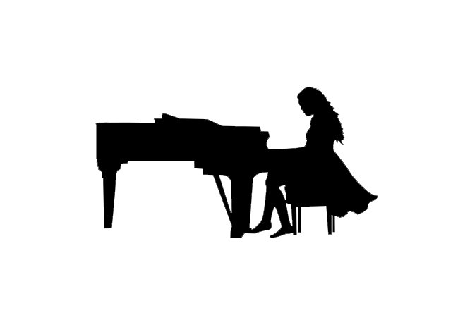clipart girl playing piano - photo #36